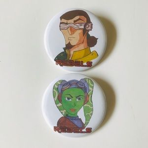 Accessories - Star Wars Rebels Hand Drawn Pin Back Badge Buttons